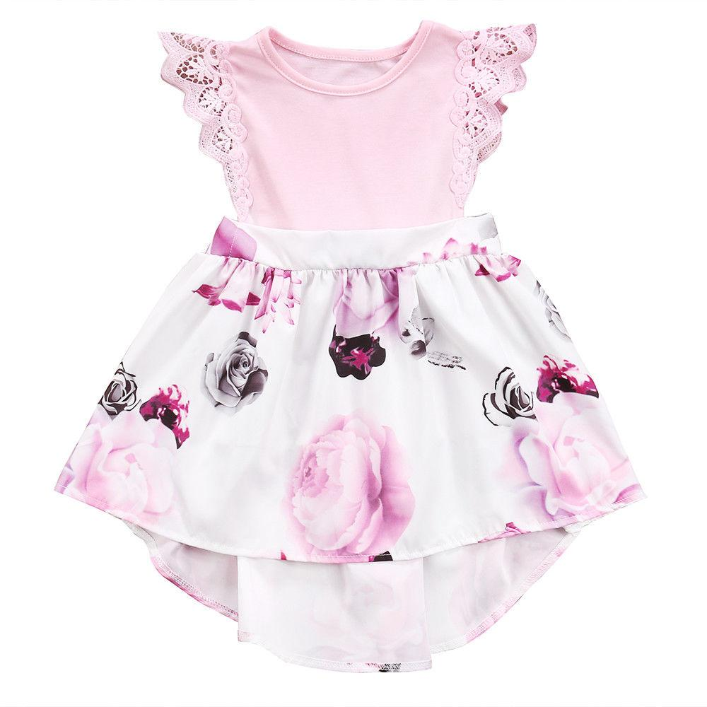 d834a05d2847 Sister Matching Outfits Little Sister Kids Girls Lace Floral Dress Sundress Newborn  Baby Girl Romper Matching Outfits For Kids Family Clothing From ...