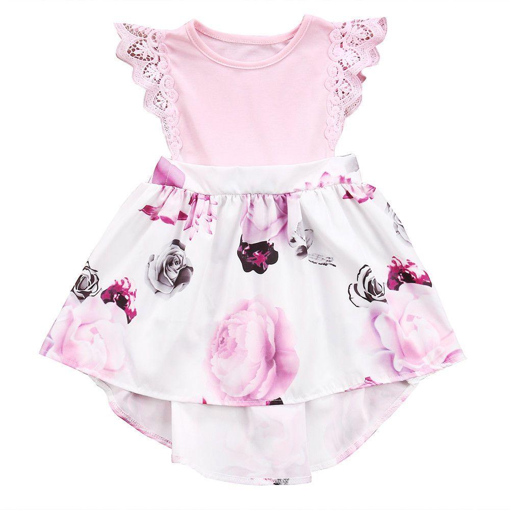 c961d2d389d2 Sister Matching Outfits Little Sister Kids Girls Lace Floral Dress Sundress Newborn  Baby Girl Romper Matching Outfits For Kids Family Clothing From ...