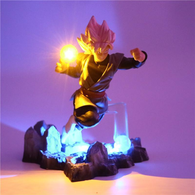 2019 Z Son Goku Action Figures Lamp Diy Anime Model Table Lamp Baby