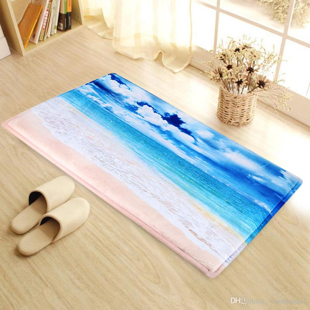 Non-Slip Carpet Ground Mat for Living Room Bathroom Kitchen Door ...