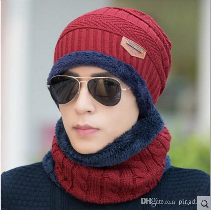 Neck Warmer Winter Hat Knit Cap Scarf Cap Winter Hats For Men