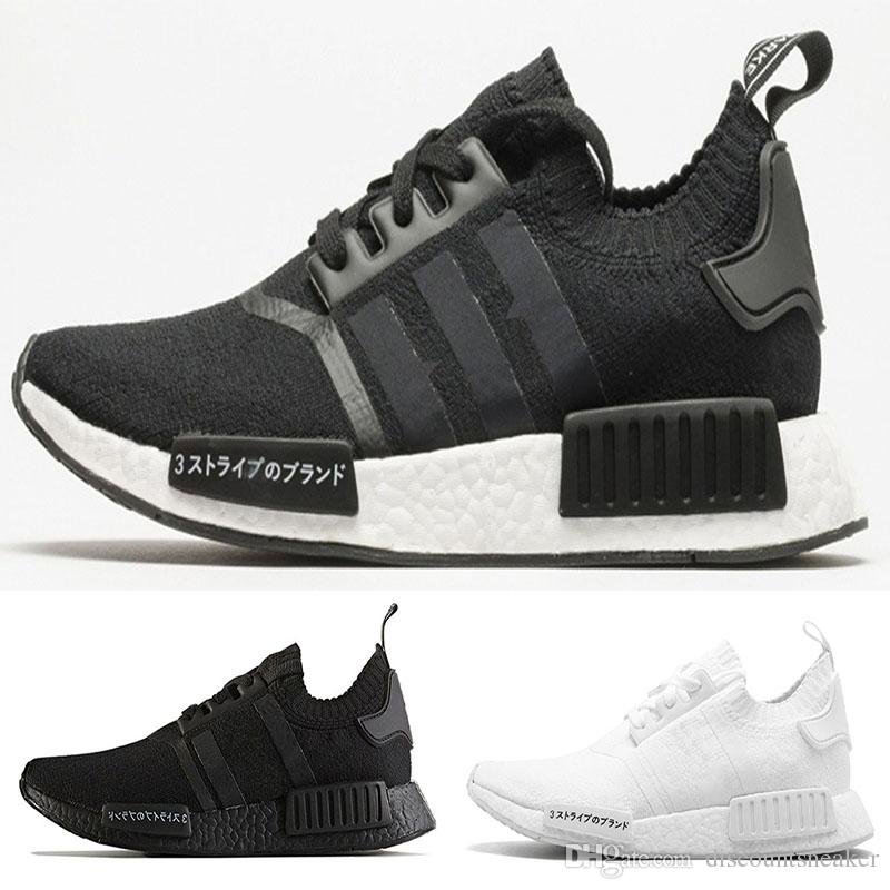 2018 NMD Runner R1 Pk Japan Triple Black White Men Women Running Shoes  Sneaker Nmd Runner Primeknit Mens Trainers Sports Shoes Size 36 45 Shoes  Shop Free ... 9f510dc31