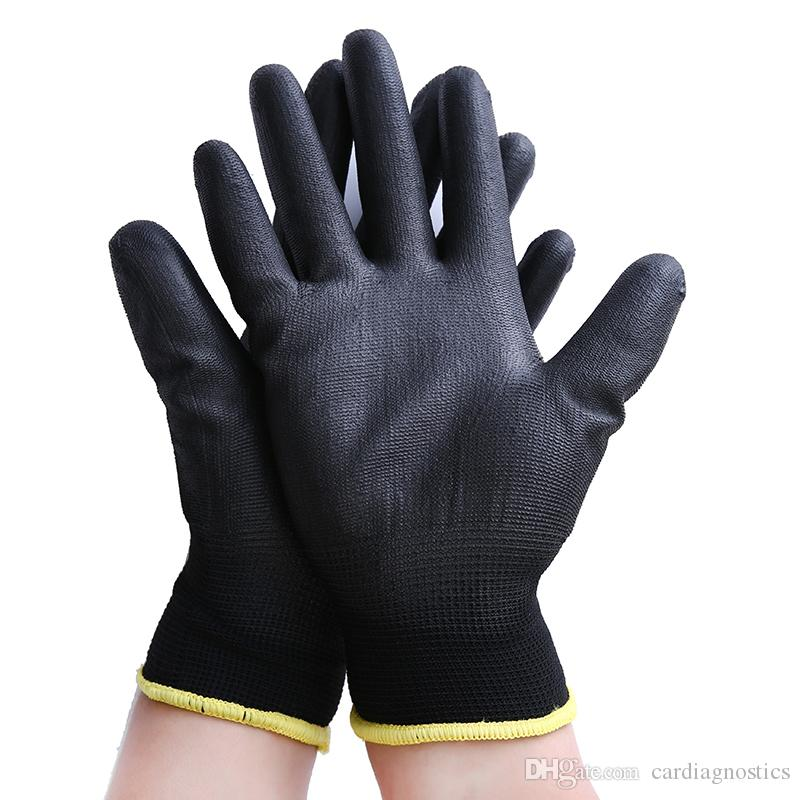 Black Nylon & PU palm coated electronic Anti-static Gloves With PU AntiStatic Work Glove
