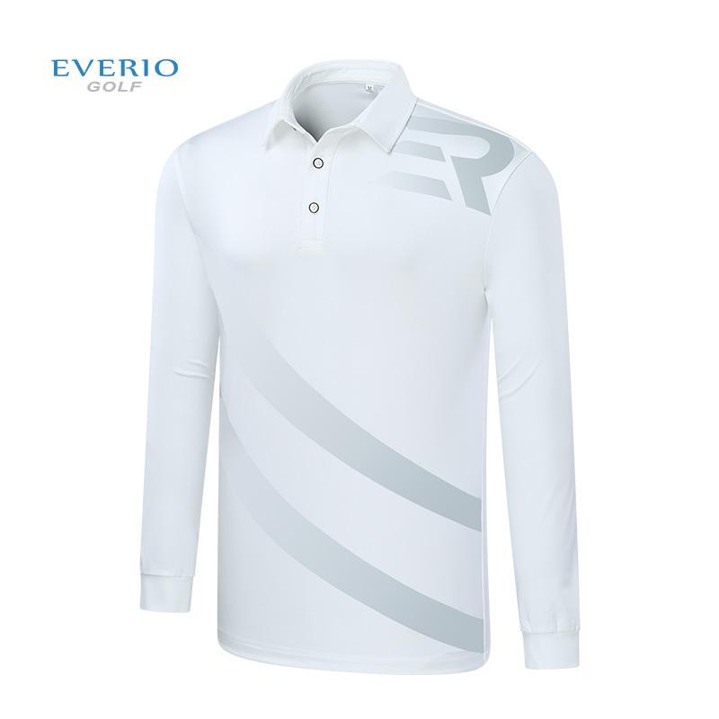 5382817e44720 Compre Camisas De Golf Everio Otoño Para Hombres Prenda De Entrenamiento De  Manga Larga Camiseta Deportiva Polo Tops Golfwear Marca De Ropa Camisa A   69.06 ...