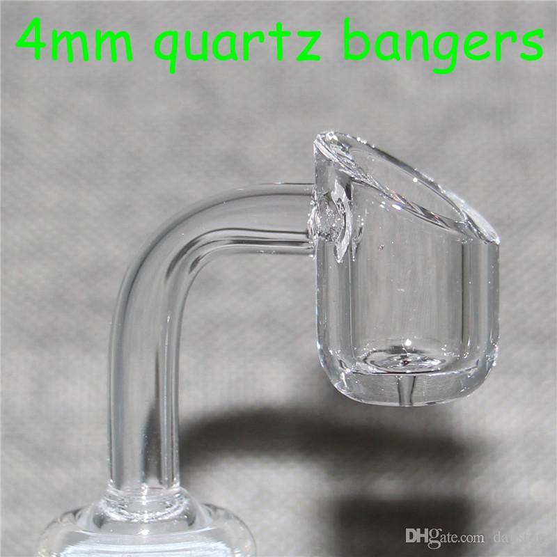 4mm thick polish Quartz Banger Club Domeless Honey Bucket Nail 90/45 Degree 10mm 14mm 18mm male female For Bongs Rigs Smoking Tools
