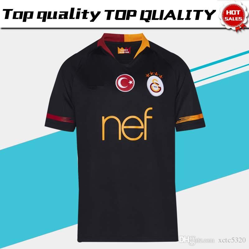 012a84a628b 2019 2019 Galatasaray Away New Soccer Jerseys 18 19 Galatasaray Spor Kulubu  Away Black Football Shirts 2018 Football Uniform Sales From Xctc5320