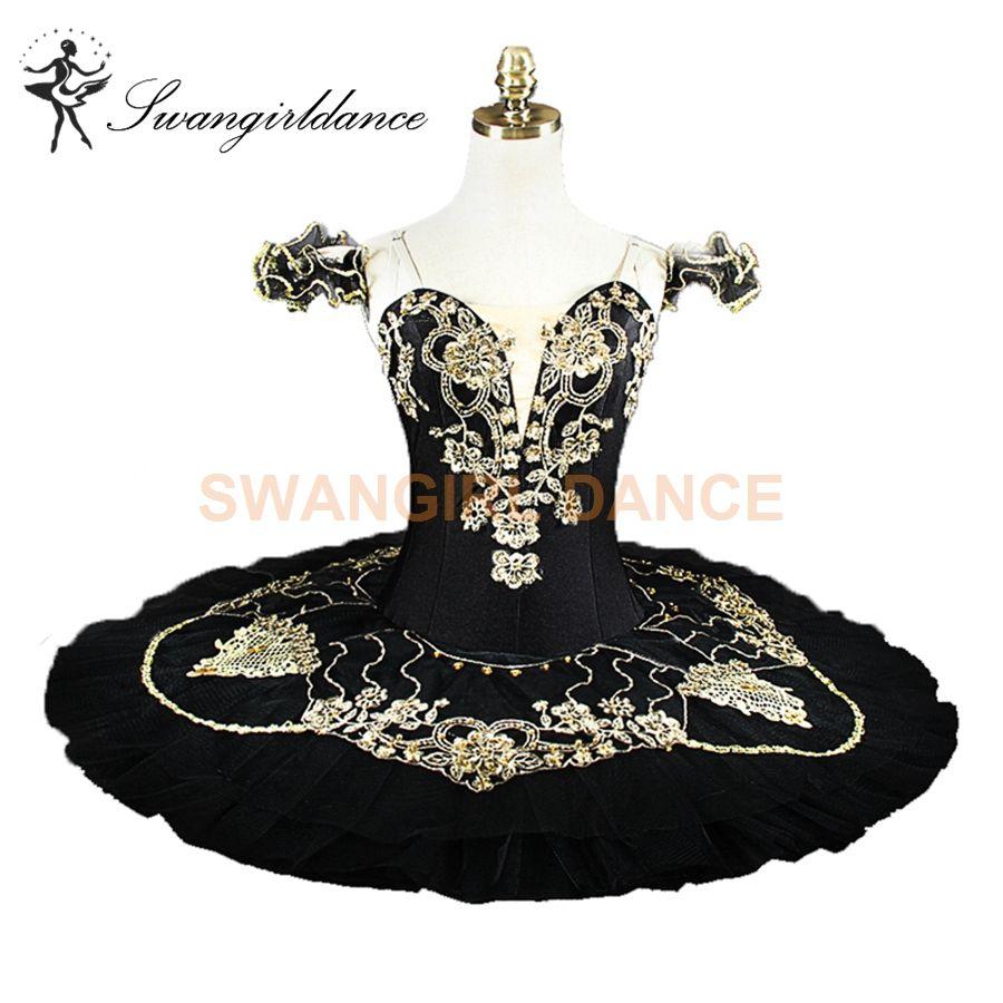 482f0b8d1113 2019 Adults Black Gold Professional Ballet Tutus Women Professional Ballet  Costume YAGP Competition Platter Pancake Performance Tutu BT9131 From  Swangirl, ...