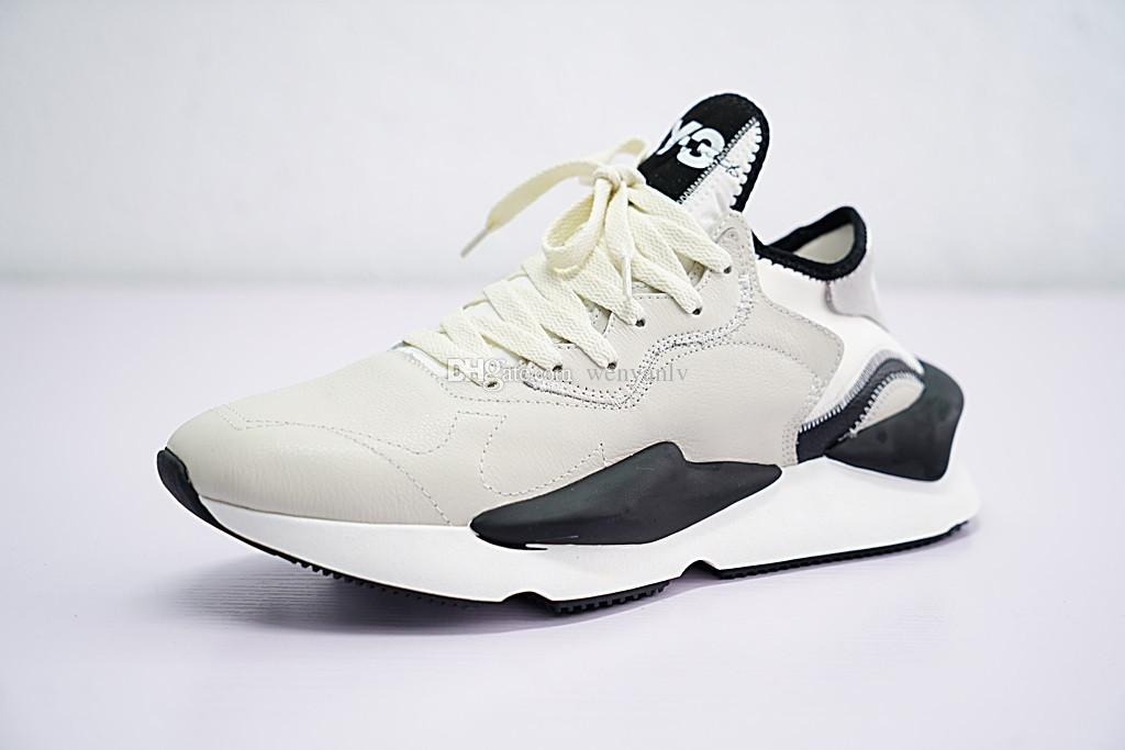 6b3c326949beb 2019 High Quality Y 3 Kaiwa Chunky Sneakers Grey White Black Beige Genuine  Men S Y3 Shoes Walking Boots Size 10 From Wenyanlv