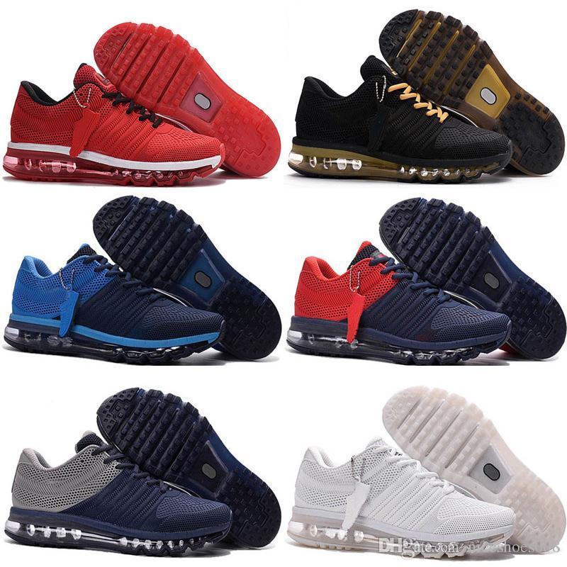 new style ad72e 002ce Scarpini Calcetto Nike Air Max Airmax 2017 Kpu NOVITÀ Maxes 2017 Mens Scarpe  Da Corsa BENGAL Arancione Grigio Nero Oro Maxes 2017 KPU Cuscino Sneaker  Uomo ...
