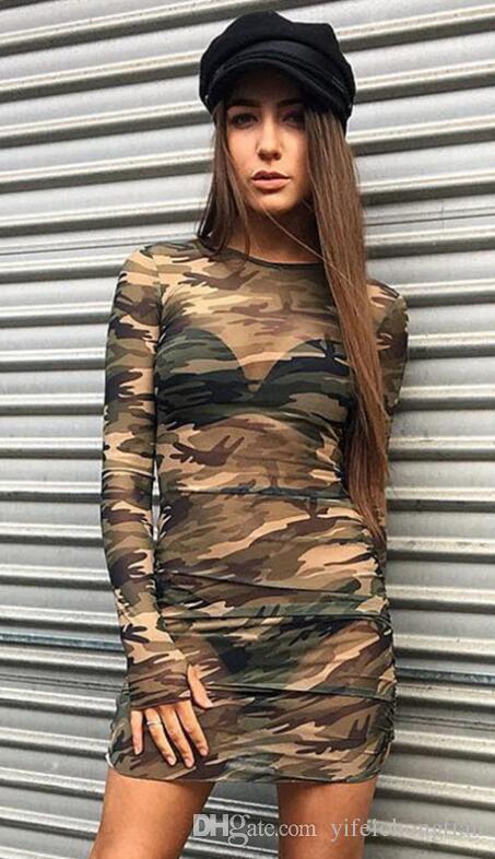 Acquista Vestito Aderente In Mesh Mimetico Donna Summer Casual Sexy See  Through Dress Abiti Mini Party A Manica Lunga A  13.31 Dal Yifeichongtian  66c1f6452ef