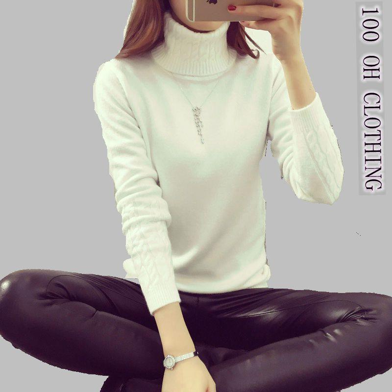 0ef907a7b23 2019 OHCLOTHING Hot 2017 Spring Autumn Winter Pullovers Fashion Turtleneck  Sweater Women Twisted Thickening Slim Pullover Sweater S18100902 From  Xingyan01