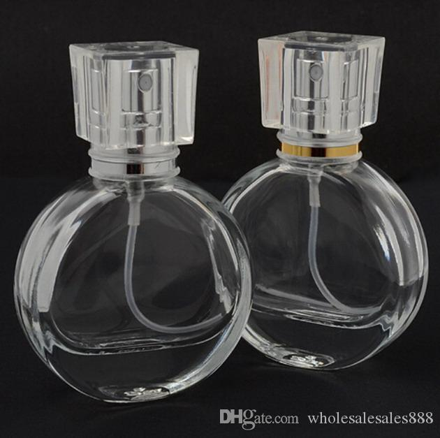 100 adet / grup Sprey Parfüm Şişesi 25 ML Atomizer Parfüm Sprey Şişe Doldurulabilir Şişe Ile Boş Şeffaf Cam