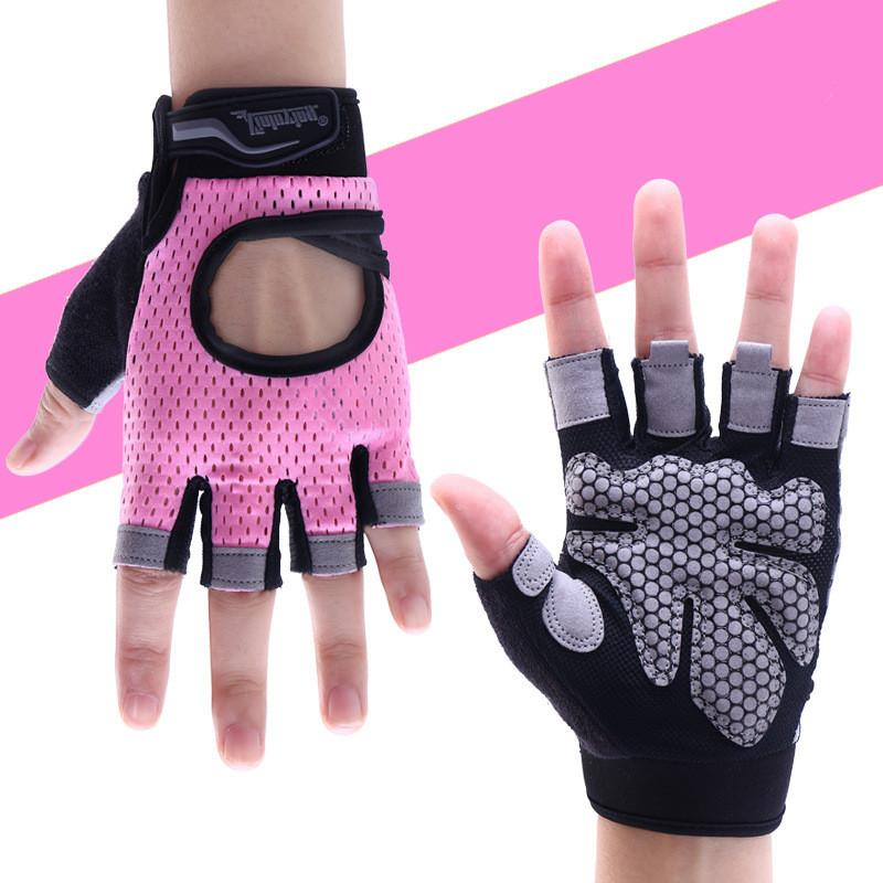 Fitness & Body Building Anti-skid Weightlifting Gloves Breathable Half Finger Hand Sports Fitness Exercise Training Palm Protector Gym Gloves