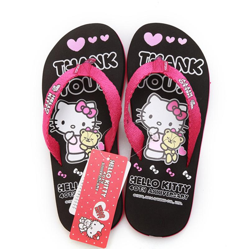 af411cb9e Hello Kitty Cartoon New Women Flip Flops Lovely House Sandals Woman Shoes  Hello Kitty Girls Shoes New 2016 Womens Ankle Boots Ladies Slippers From  Dealbag, ...