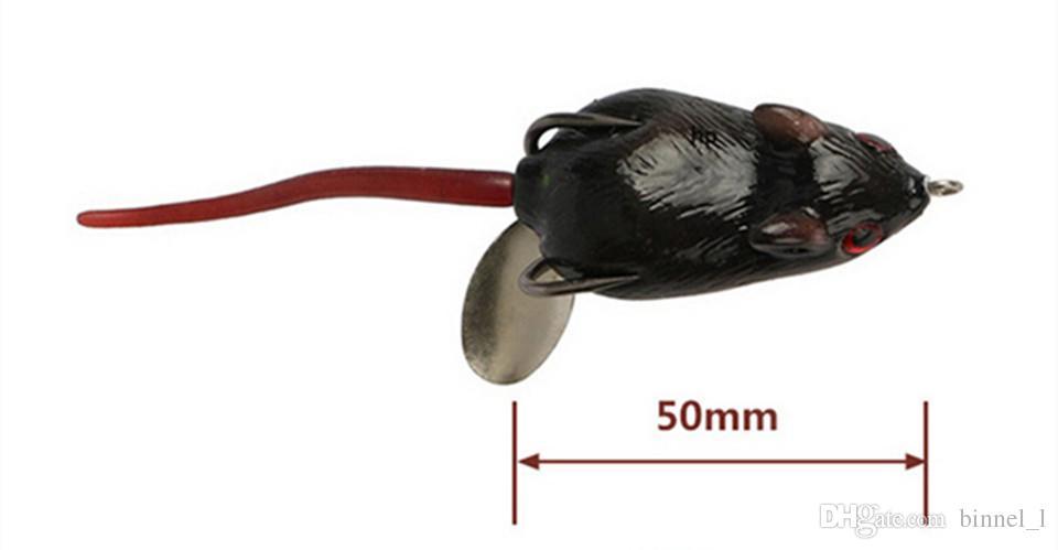 / Fare PVC Yumuşak Yemler Yemler 6 Renk Karışık 5 cm 10.5 g Balıkçılık Kancalar Pesca Balıkçılık Aksesuarları BL_40 Mücadele
