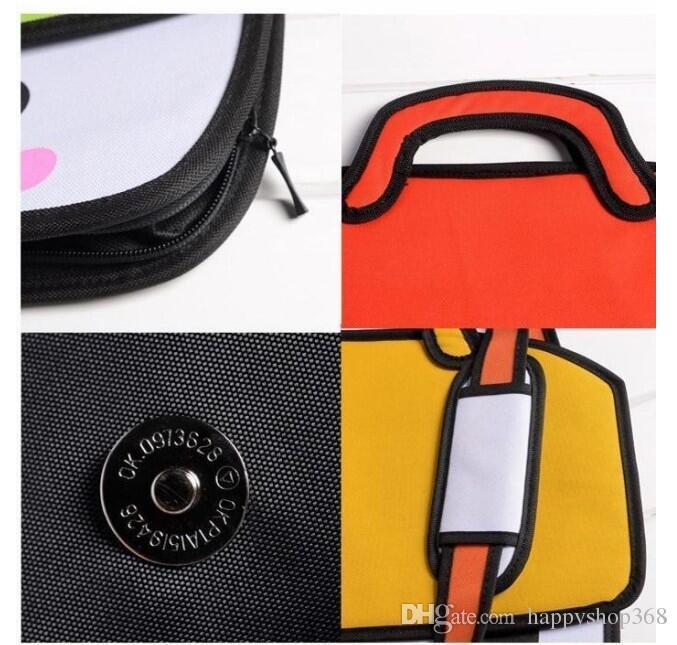 Woman Bags 2d Cartoon Comics Bag Messenger Shoulder Crossbody Bag 3D Bolsa Feminina Bolsosde Ombro 3d Handbags Ladies Hot Sale 994