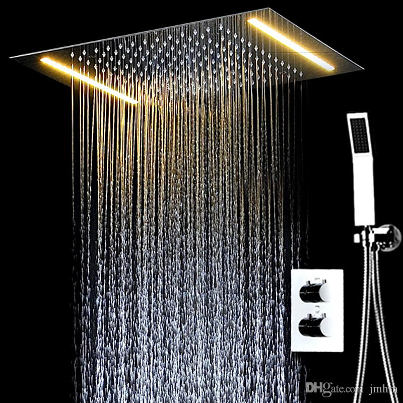 2018 Modern Concealed Electric LED Ceiling Rain Shower Systems ...