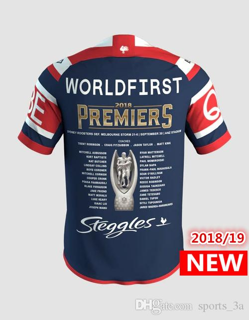 944bada88eb 2019 GRAND FINAL SYDNEY 2018 SYDNEY ROOSTERS MENS PREMIERS JERSEY Home  Rugby Jerseys NRL National Rugby League Shirt Nrl Jersey Shirts S 3xl From  Sports_3a, ...