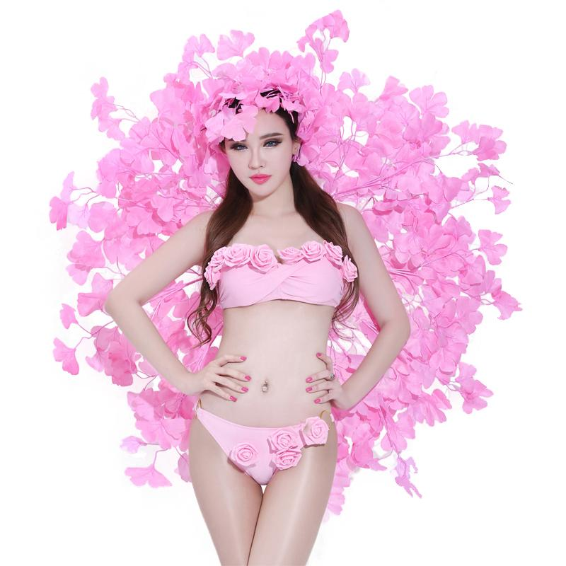 Jazz Dance Costumes Rave Outfit Led Costume Bar Ds Suit Sexy Singer Catwalk Bikini Pole Dance Clothing 2 Pcs Bra + Shorts DN1730