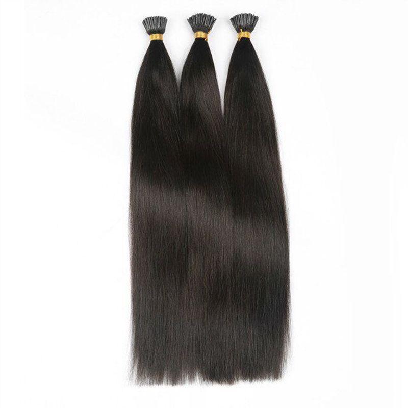 Cenere Bionda # 18 Prolunghe Prolungate Cheratina I Estensioni dei capelli 1 g ogni filo 100 g 100 fili Estensioni dei capelli brasiliani della punta del bastoncino capelli umani