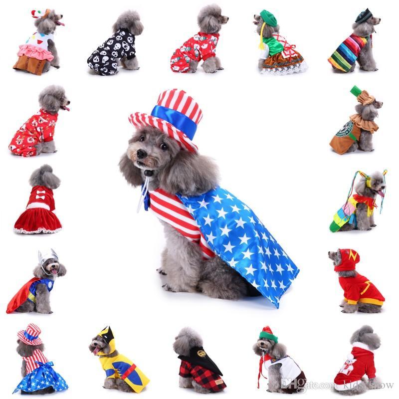 531a59f94d1de 2019 Pet Dog Christmas Clothes For Small Dogs Superman Big Dog ...