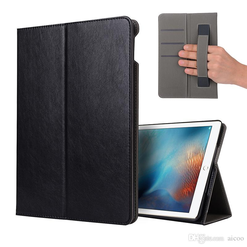 Luxury business pu leather case with strap card slot kickstand cover luxury business pu leather case with strap card slot kickstand cover for ipad 2 3 4 5 6 air 2 new pro 97 105 129 mini 1 2 3 4 oppbag 10 inch tablet case reheart Choice Image