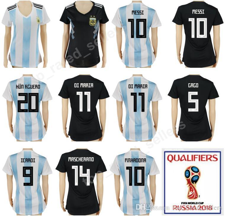3dece13b2 2019 2018 World Cup Camiseta De Futbol Women Argentina Soccer Woman Jerseys  Argentine Football Shirt Lady Uniform MESSI MARADONA GAGO MASCHERANO From  ...