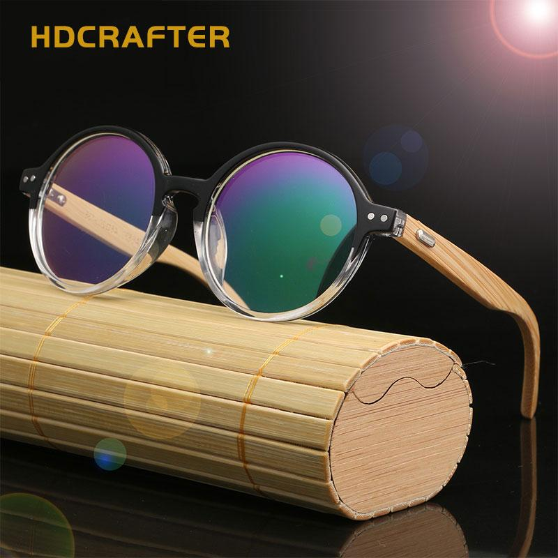 c398a5dc6d1 2019 HDCRAFTER Round Wood Bamboo Eyeglasses Frame Retro Optical Glasses  Frame Spectacle Frames Women Glasses Accessories From Buafy