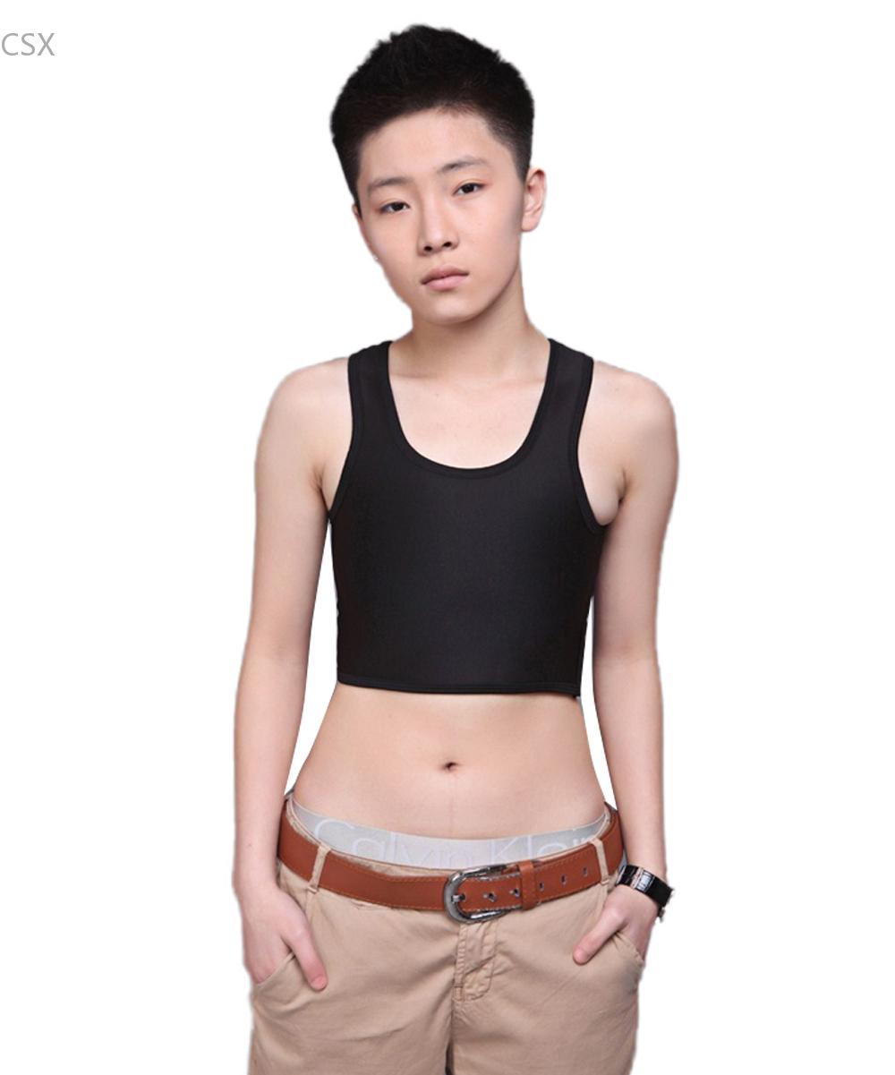 2ccf12e385e Buckle Short Chest Breast Binder Trans Lesbian Elastic Short Design  Corselet Thin Without Bandage Tomboy Camisoles Tanks