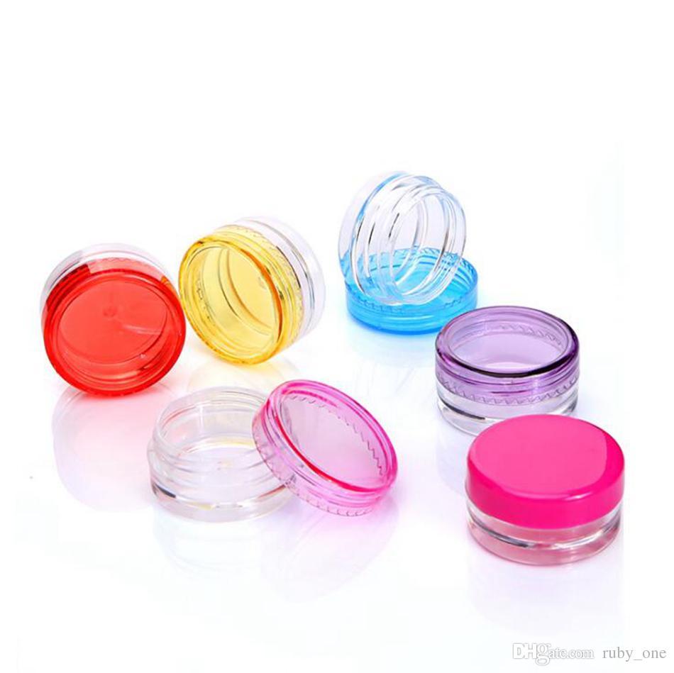 3g Mini Botella De Crema De Plástico Aceite Cosmético Vacío Envase Cosmético Recargable Maquillaje Crema Tarro Muestra de Botella Botella OOA4924