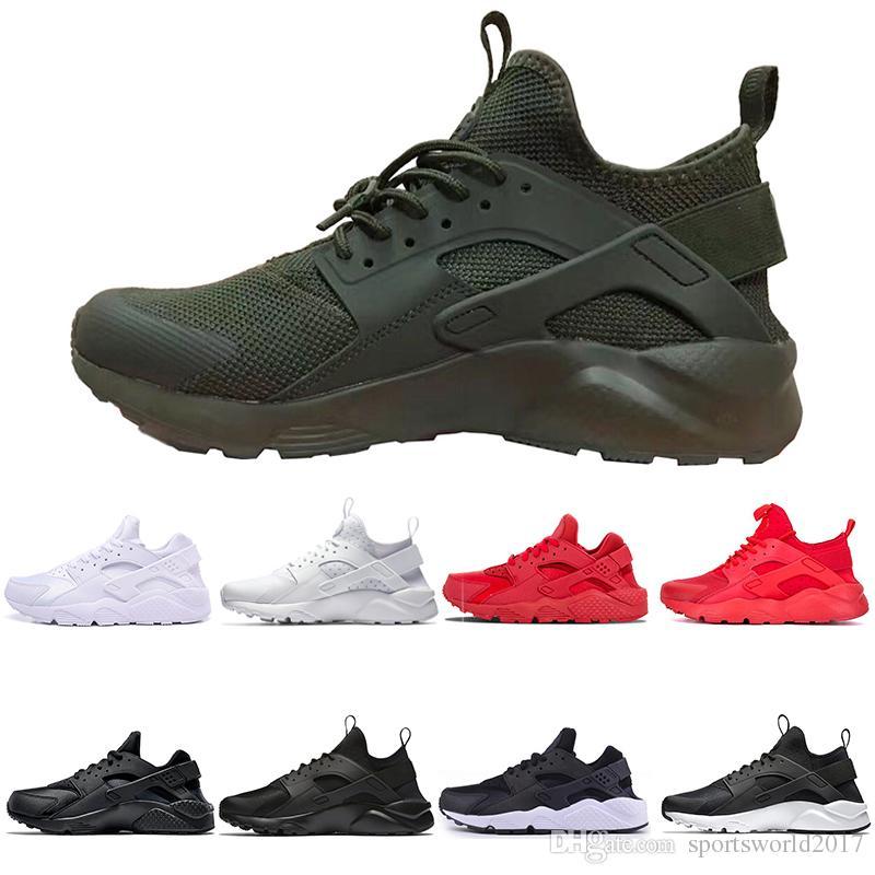 Nike Air Huarache Venta caliente Huarache IV Running Shoes para hombre Negro Blanco mejores zapatillas de calidad Triple Huaraches Jogging Sport