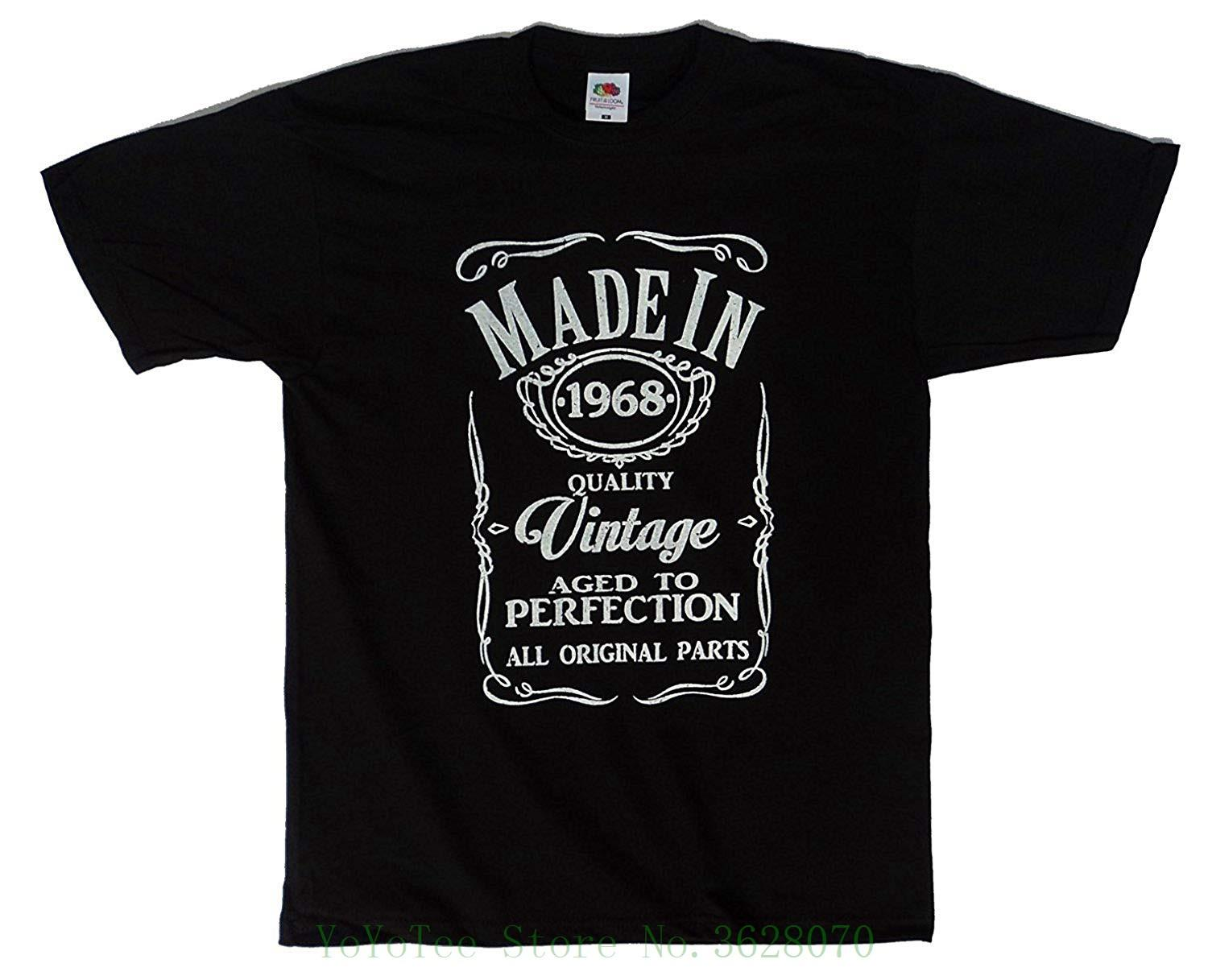 Designs Made In 1968 Quality Vintage Funny Mens 50th Birthday Gift Idea T Shirt Teenage Natural Cotton Printed