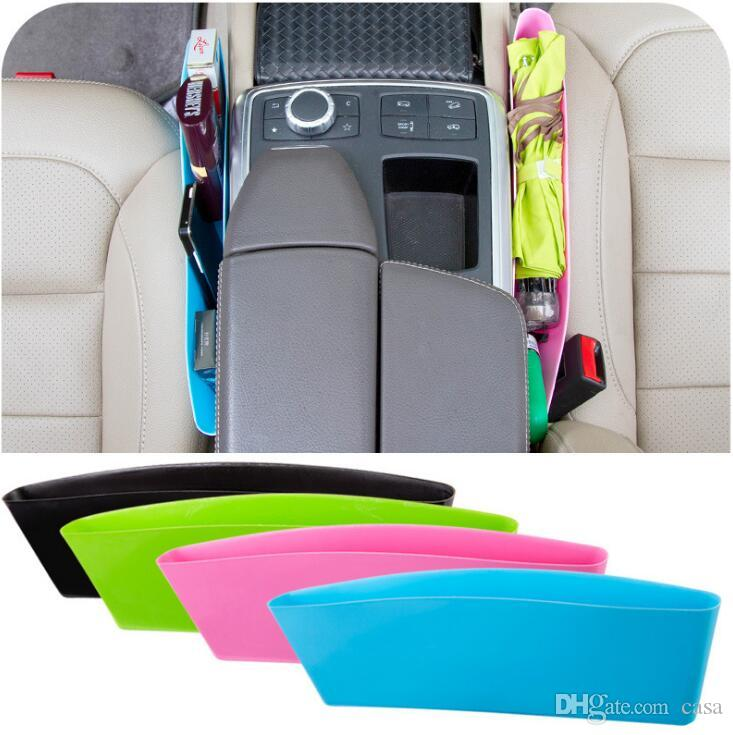 Auto Car Seat Console Organizer Side Gap Filler Pocket Organizer Storage Box Bins Bag Pocket Holder Console Slit Case for Phone Key 100Pcs