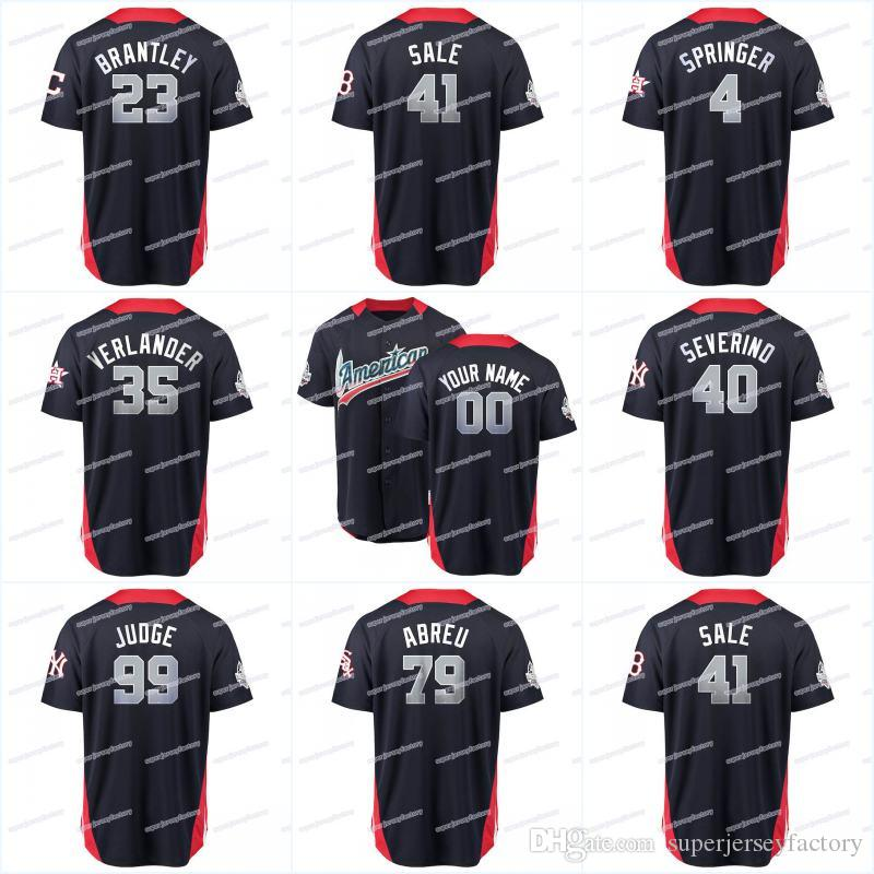 check out 3aa49 6b40b 2018 All Star Men American League 25 Gleyber Torres 27 Jose Altuve 27 Mike  Trout 28 Corey Kluber 28 J.D. Martinez 35 Verlander Jerseys