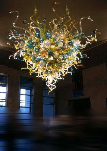 Lampade a sospensione tonde colorate Materiale in vetro 100% Handblown di stile occidentale Villa Decor Hanging Lights