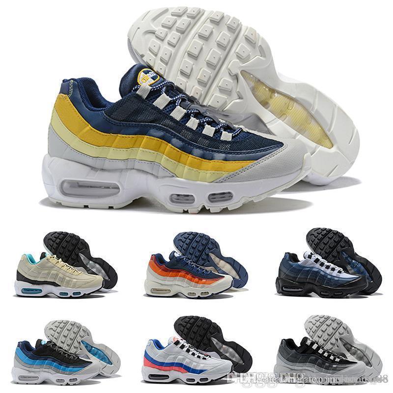 5a973b717878 2018 New Ultra 95 OG 20th Anniversary Men Running Shoes Triple Black ...