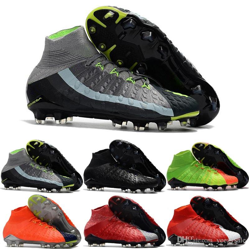 size 40 fe9b0 c4638 Best Quality Hypervenom Phantom III DF FG 3D Outdoor Soccer Cleats Trainers  Football FG Mens Football Boots Soccer Shoes For Sale