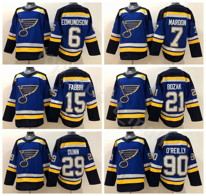 St. Louis Blues Ice Hockey 15 Robby Fabbri Jersey 6 Joel Edmundson 7 ... 025390b71f6