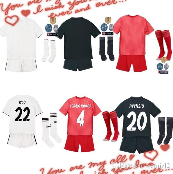 2018 19 Real Madrid Soccer Jersey Football Shirt Modric Kroos RAMOS ... 6b49daadd