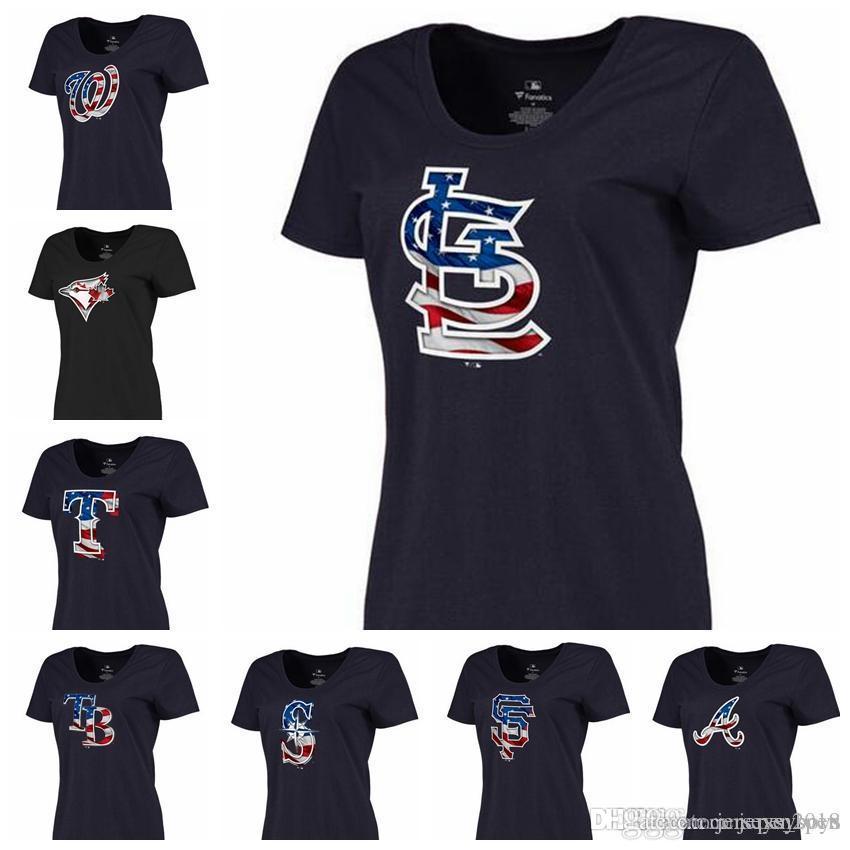 2018 Women S Washington Nationals Toronto Blue Jays Texas Rangers Tampa Bay  Rays St. Louis Cardinals National Flag Banner Wave T Shirt From  Jerseys boys 90e3d88aa
