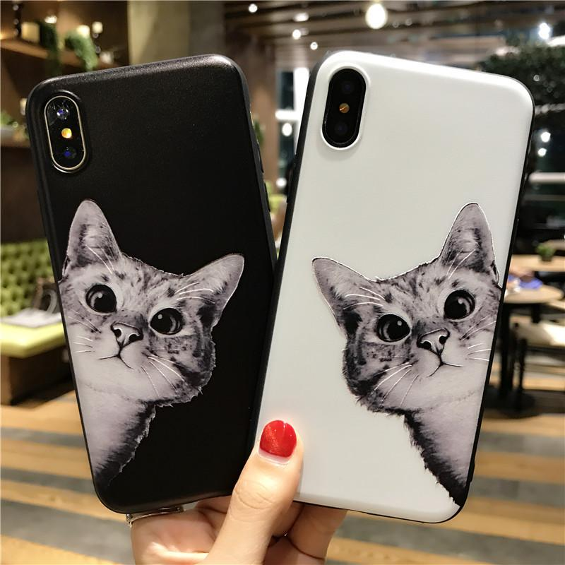 Wholesale Cat print Mobile Shell phoneX 87 plus TPU Silicone material mobile case boutique anti-fall shell 196