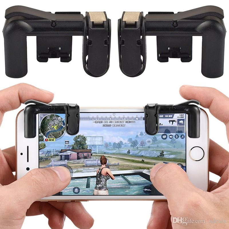 1 Pair Fire Button Auxiliary Key Phone Gamepad PUBG Mobile Cellphone Game  Controller Sooting Trigger with hight quality