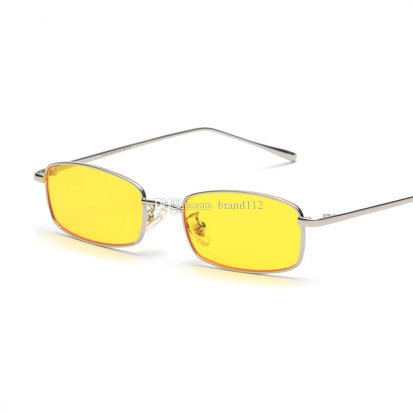 eaa6a44733 Compre 2018 Nueva Gafas De Sol Cuadradas Pequeñas Mujeres Hombres Gafas De  Sol De Metal De La Vendimia Gafas De Sol De Colores Caramelo Mujer UV400 A  $8.08 ...