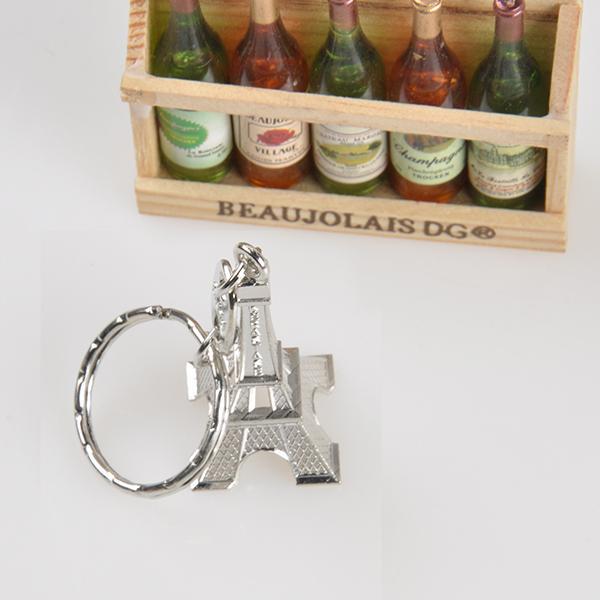جميل ريترو البسيطة باريس برج ايفل نموذج المفاتيح كيرينغ الموجودة حلقة معدنية هدية الديكور التذكارات فرنسا باريس المفاتيح