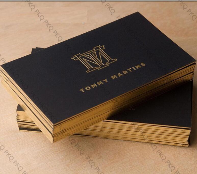 Acheter Haut De Gamme Super Epais 700gsm Papier Noir Carte Cartes Visite Personnalisees Double Face Imprimer Feuille Dargent Silve Estampage