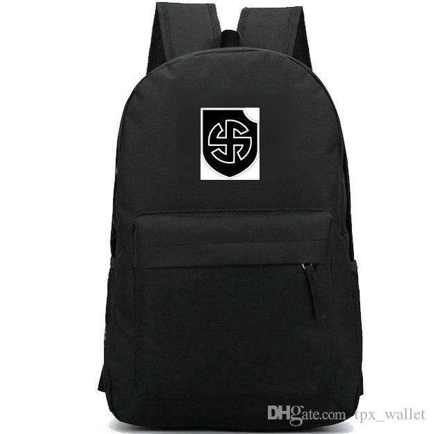 ce0cae2cb797 Viking Backpack Strong Division Daypack Germany Army Schoolbag Cool Badge  Rucksack Sport School Bag Outdoor Day Pack Toddler Backpacks Mens Backpacks  From ...