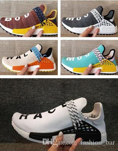 Human Race Pharrell Williams Hu trail running shoes beat quality human race sneaker shoes free shipping