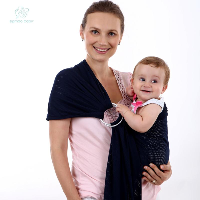 2018 Hot Breathable Soft Cotton Baby Wrap Carrier Backpack Copper