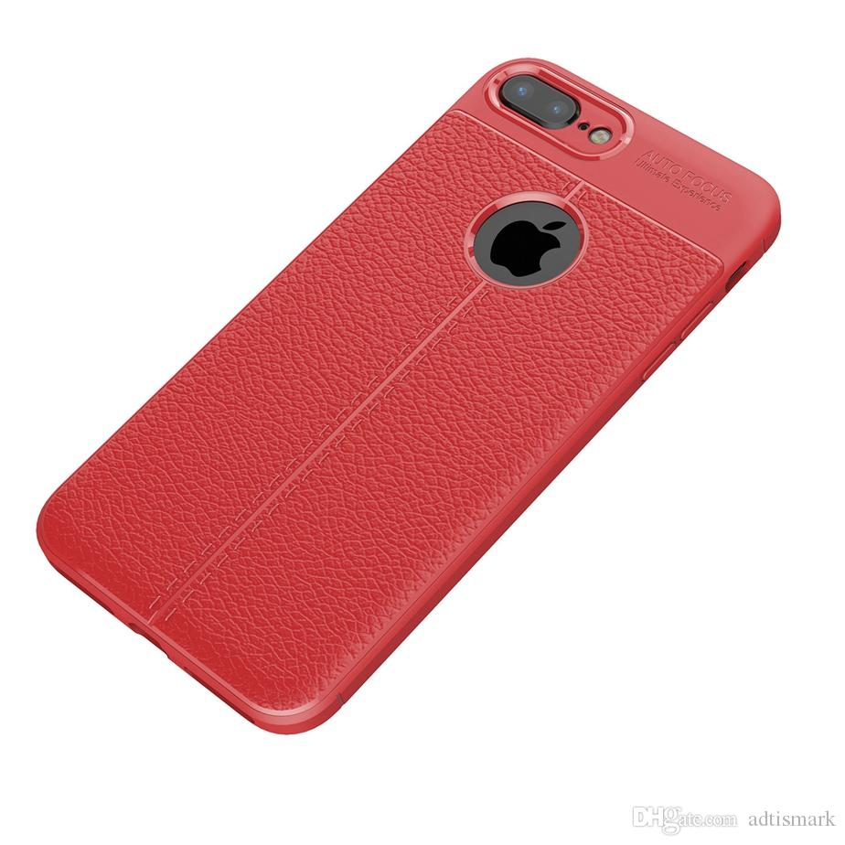 جديد لينة tpu سيليكون حالة مكافحة زلة جلد الملمس الحالات غطاء الهاتف ل فون x 8 7 6 6 ثانية زائد 5 5 ثانية سامسونج ملاحظة 8 s7 حافة s8 s9 زائد