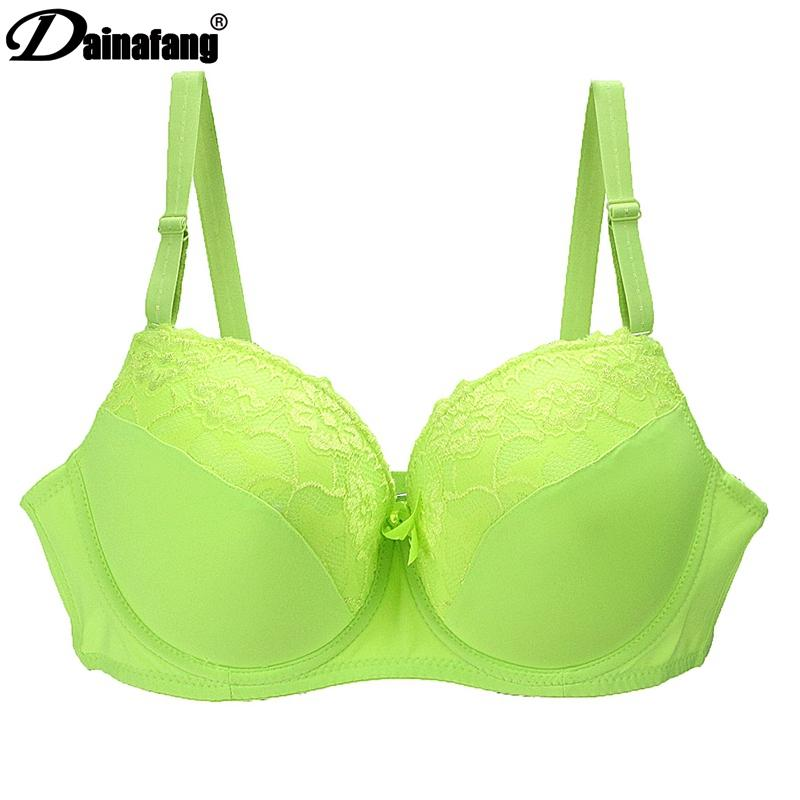 53b366d275337 Women Push Up Bra Sexy Deep V Embroidery Lace Decorative Lingerie ...